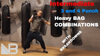Intermediate Heavy Bag Combinations. SESSION 1 by NateBowerFitness