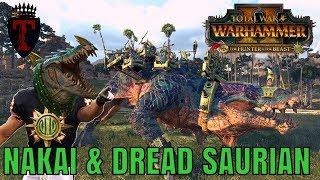 Nakai The Wanderer & THE DREAD SAURIAN   The Hunter & The Beast DLC Showdown - Total War Warhammer 2