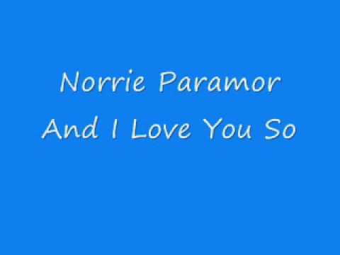 Norrie Paramor - And I Love You So