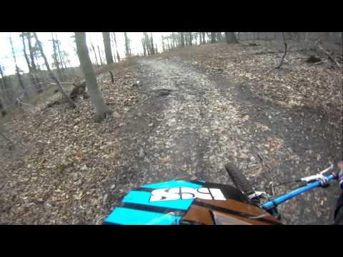 Destroying a Shimano SLX crankset / Freeride hardtail / Heidelberg
