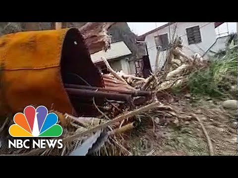 'Everything Gone:' Villager Surveys The Devastation Of Hurricane Maria In Dominica | NBC News