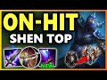 RANK 1 SHEN S ON HIT BUILD Season 9 Shen Top vs Malphite Gameplay Unranked to Challenger EP 14