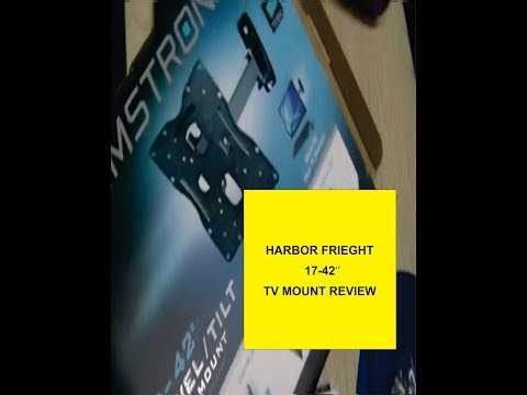 Review of the harbor freight 17 42 tv mount