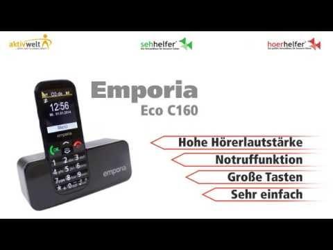 Seniorenhandy Emporia Eco C160 Schwarz