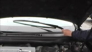 How to change Lexus Wiper Arms Winter Summer Settings