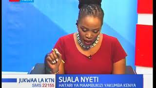 Suala Nyeti: Hatari ya maambukiza wa ugojwa wa kupooza