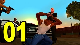 Grand Theft Auto: San Andreas - Part 1 - Welcome to Los Santos (GTA Walkthrough / Gameplay)