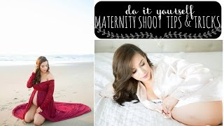DIY Maternity Photo Shoot: How To Take Your Own Maternity Photos | Hayley Paige