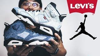 CUSTOM Jordan 6 (Distress Denim Shoe Tutorial)
