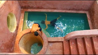 How To Build Amazing Underground Hole House , Ground Water And Underground Swimming Pool