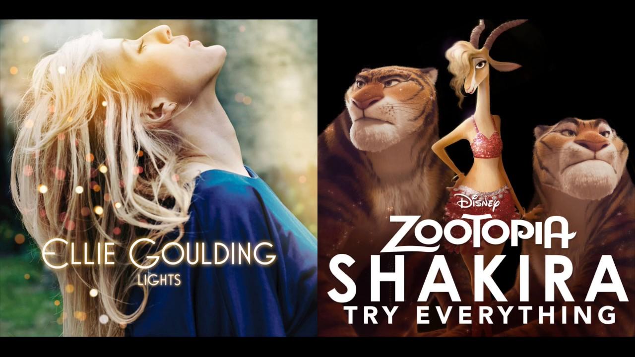 Light Everything- Ellie Goulding meets Gazelle!  (By Mashin' Jams)