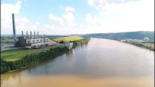 Scenic Drone Footage of the Ohio River Valley