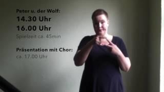Peter u der Wolf mit Gebärdensprache / Philharmonie Dresden