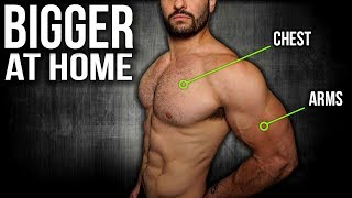 7min Home CHEST And ARMS Workout (DUMBBELL WORKOUT) by BarbarianBody