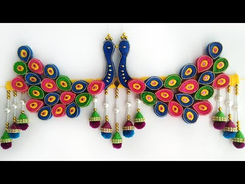 DIY Peacock Door Toran/Best Home Decoration Idea