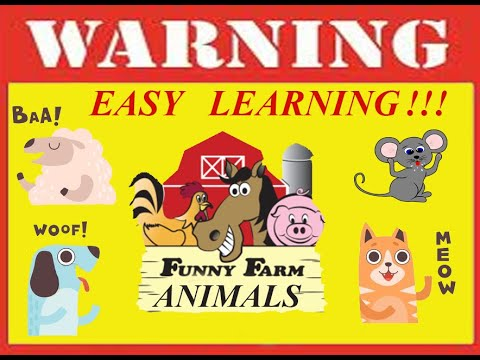 Learn Farm Animal Names and Sounds for Children, Kids and Toddlers. English. First Words