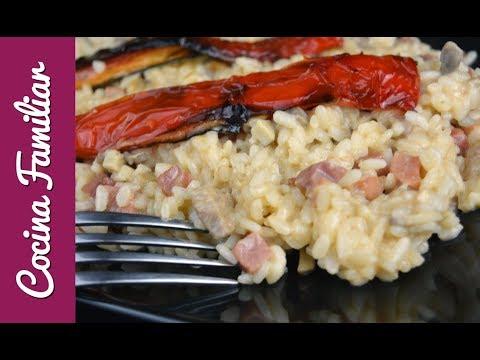 Arroz meloso con solomillo de cerdo y champiñones | Recetas caseras de Javier Romero