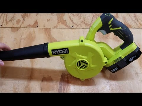 NEW Ryobi One+ 18V Workshop Blower Review