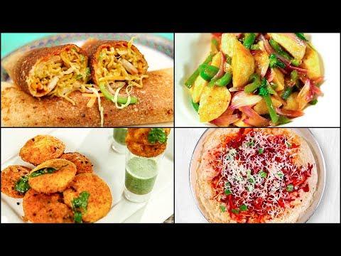 MUST TRY BREAKFAST RECIPES | South Indian Breakfast Recipes | Idli Shots | Maggi Dosa | Jini Dosa