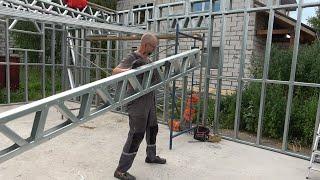"""Привет, мои строительные друзья! Можно ли самому построить капитальное строение без дорогих инструментов и строительного опыта? Сегодня покажу, как я строил каркас моего гаража-мастерской. Технология ЛСТК по моему мнению - отличная замена деревянному каркасу. Очень понравилась точность и простота сборки. В этом ролике вы увидите все этапы и многие нюансы сборки каркаса гаража-мастерской своими руками. И с чем вам еще придется столкнуться если вы решили сделать это сами. #лстк #каркаслстк #домлстк Гаражи и другие проекты https://www.xn--j1abse.com/garazhi/ Мужик построил двухэтажный дом ЛСТК https://youtu.be/xqJrzTiNb3g Апарт-отель на 90 номеров из ЛСТК и пенобетона https://youtu.be/NwMNfU3b47E Скидка 10% по кодовому слову Строим для себя до 15 августа 2020 г.  До новых встреч на канале! Кому мало, приглашаю в нашу открытую группу в контакте Строим для себя: https://vk.com/stroimdlyasebya где всегда можно задать вопрос по строительству вашего дома. Мои инстаграм кстати тут: https://www.instagram.com/stroim_dlya_sebya/ Подпишитесь на все строительные приключения дяди Кости и расскажи тем, кто строится. Ваши замечания и вопросы важны для меня. Приятного вам просмотра и пока! Музыка отсюда: Production Music courtesy of Epidemic Sound"""" www.epidemicsound.com"""