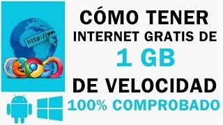 Como tener INTERNET GRATIS en PC | 1GB vel | 2016 | Windows XP, Vista, 7, 8, 8.1, 10 | Comprobado |