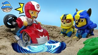 Paw Patrol Rescue Ryder time travel. Ryder Vehicle Transformations