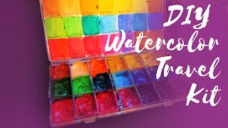 DIY Watercolor Travel Kit