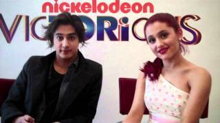 Ariana Grande & Avan Jogia From VicTORious Take The America Test!