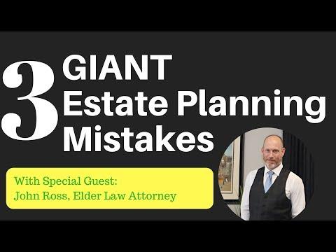 3 GIANT Estate Planning Mistakes (elder law attorney tells it all)