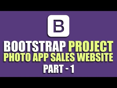 Learn Bootstrap by building project   Photo App Sales Website   Part 1