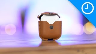 Sleeve Case Kulit untuk Airpods Earphone