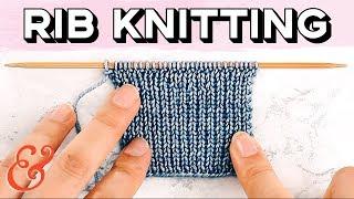 Rib Stitch for Beginners: 1x1 and 2x2 Rib
