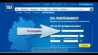 DSL Verfügbarkeitstest 1&1 - Tutorial: DSL prüfen