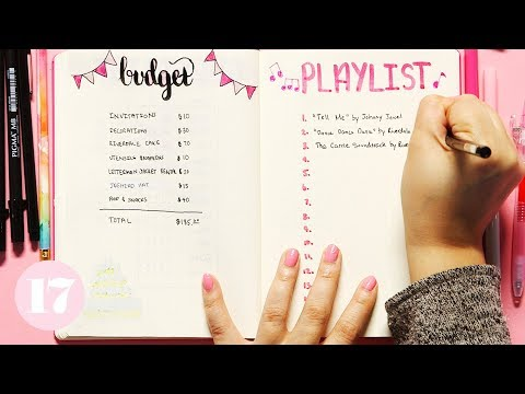 Party Planning Spread Ideas For Your Bullet Journal | Plan With Me