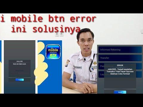 i mobile btn error ,ini solusinya