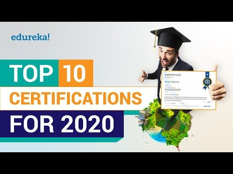 Top 10 Certifications For 2020 | High Paying IT Certifications | Best ...