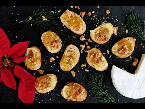Appetizer Recipe: EASY Brie & Fig Crostini by Everyday Gourmet with Blakely