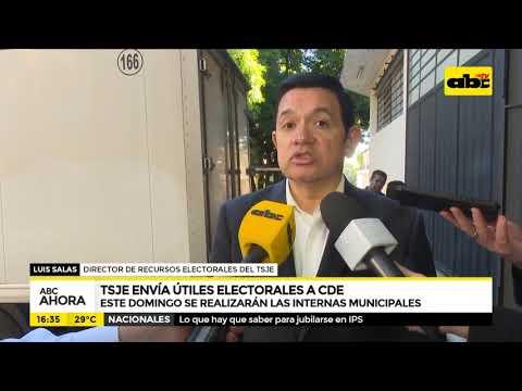 TSJE envía útiles electorales a CDE