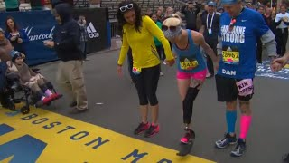Boston Bombing Survivor Crosses Marathon Finish Line