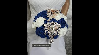 #1 DIY How To Make Your Own Brooch Bridal Bouquet No Wires Easy