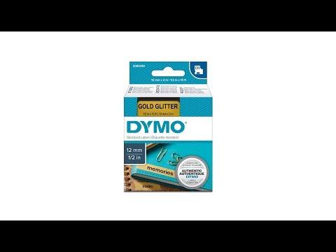 Etichete autocolante, DYMO LabelManager D1, 12mm x 3m, negru/auriu, 2084349 2056090