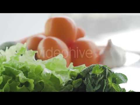 Tomato Carrot Avocado Garlic Rotating (Stock Footage) | Videohive Effects and Stock Footage