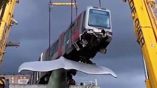 How a Train Car Got Stuck on a Whale 30 Feet in the Air