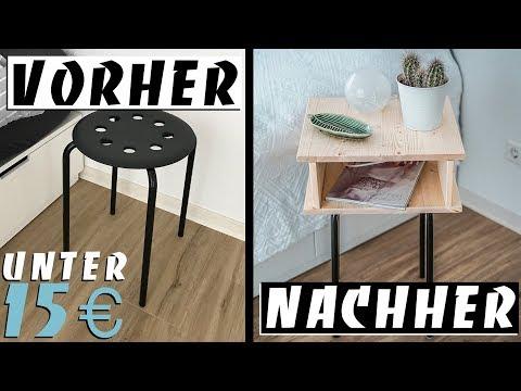 EINFACHER IKEA HACK - DIY NACHTTISCH unter 15 € | EASY ALEX
