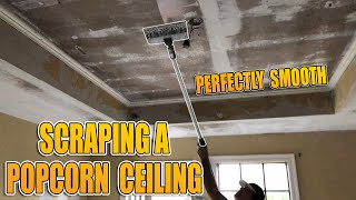 Scraping a Popcorn Ceiling and Applying a Modern Texture
