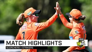 Scorchers snatch final-ball victory over Strikers | Rebel WBBL|05