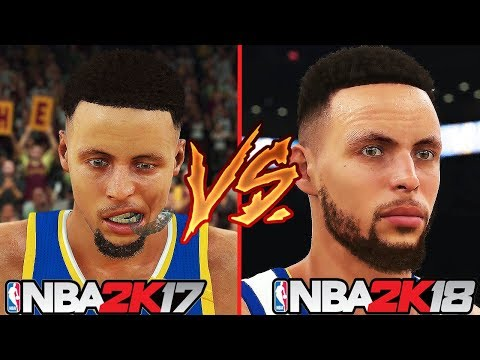 NBA 2K18 vs NBA 2K17 Player Faces Comparison Ft. Stephen Curry, LeBron James, Kevin Durant...etc