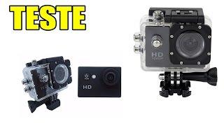 Teste - Câmera SportCam FullHD 1080p WIFI - X4000/Réplica SJ4000 - 60 fps