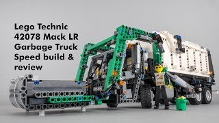 Lego Technic 42078 Mack LR Garbage Truck (B model) speed build & review with Trashcam footage