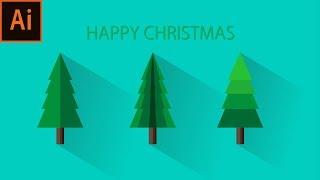 クリスマスフラットデザイン/AdobeIllustratorCC2019